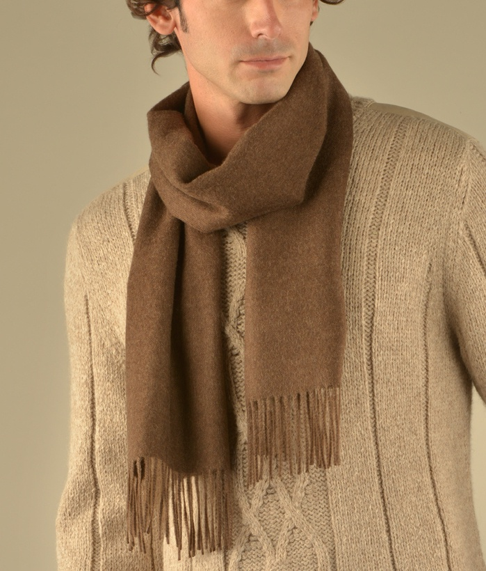LONG BRUSHED SCARF HEATHERED BROWN213