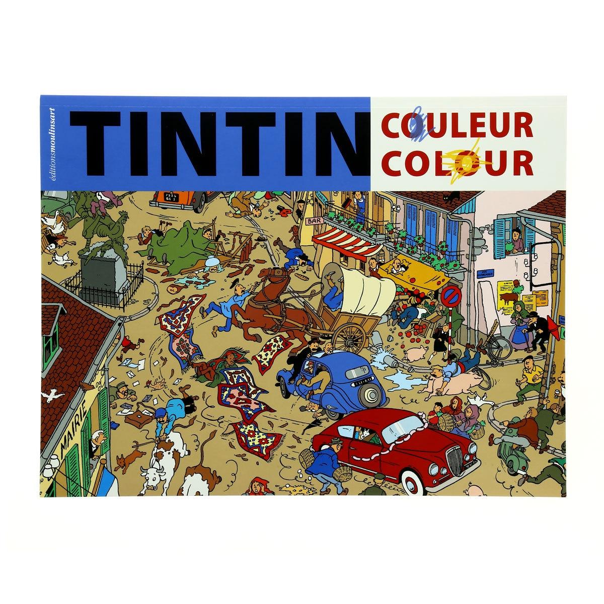 Tintin Colouring Book Blue