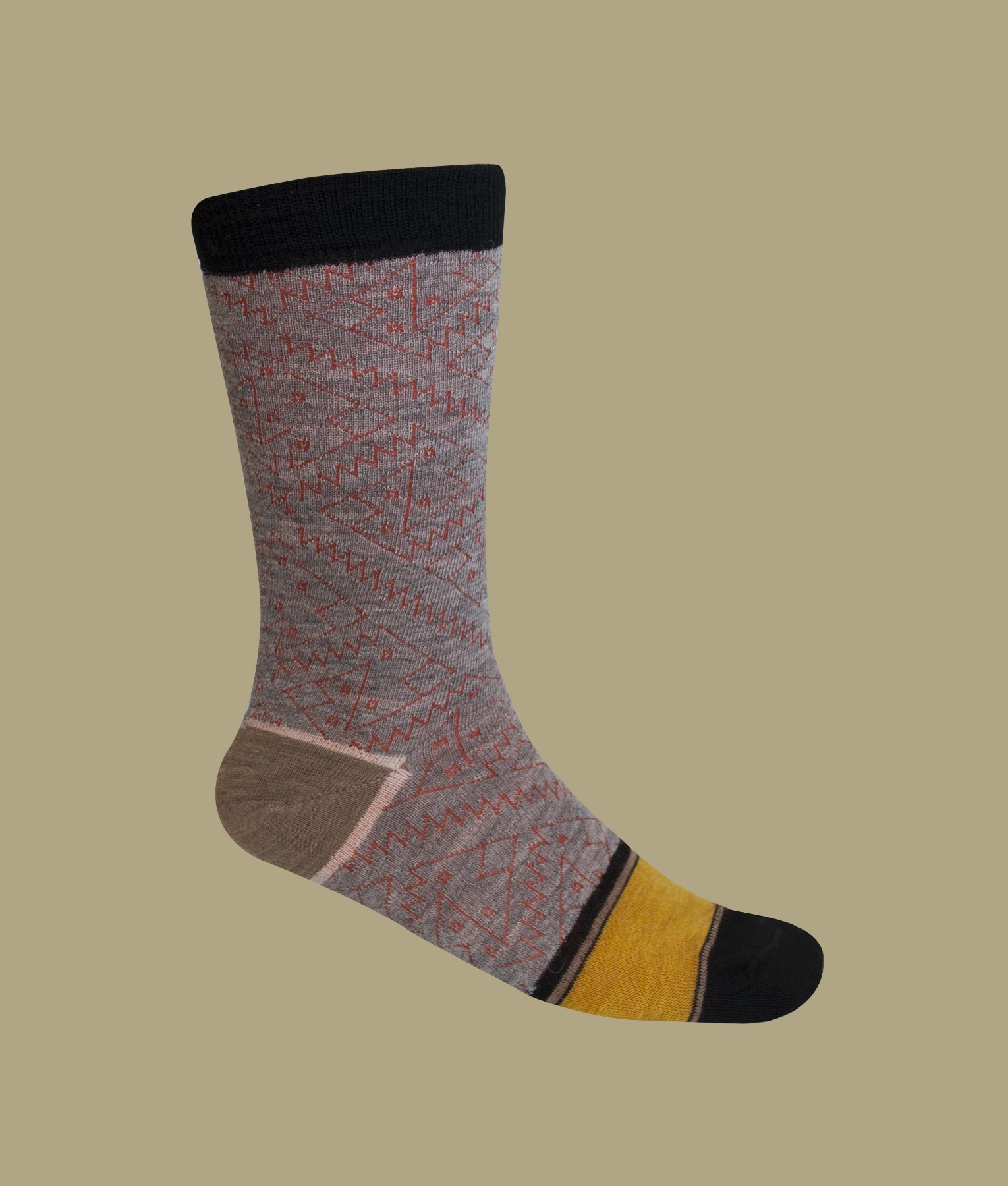 CHANCAY PATTERN LADIES SOCKS C002