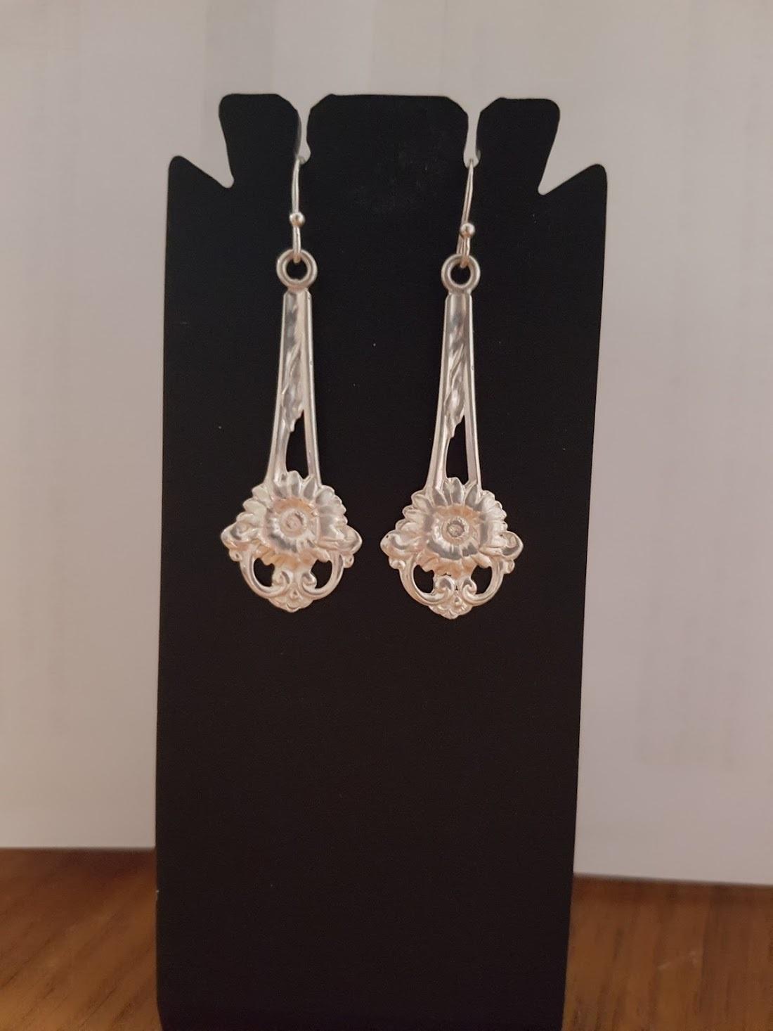 Delicate Vintage Sterling SilverSpoon Earrings