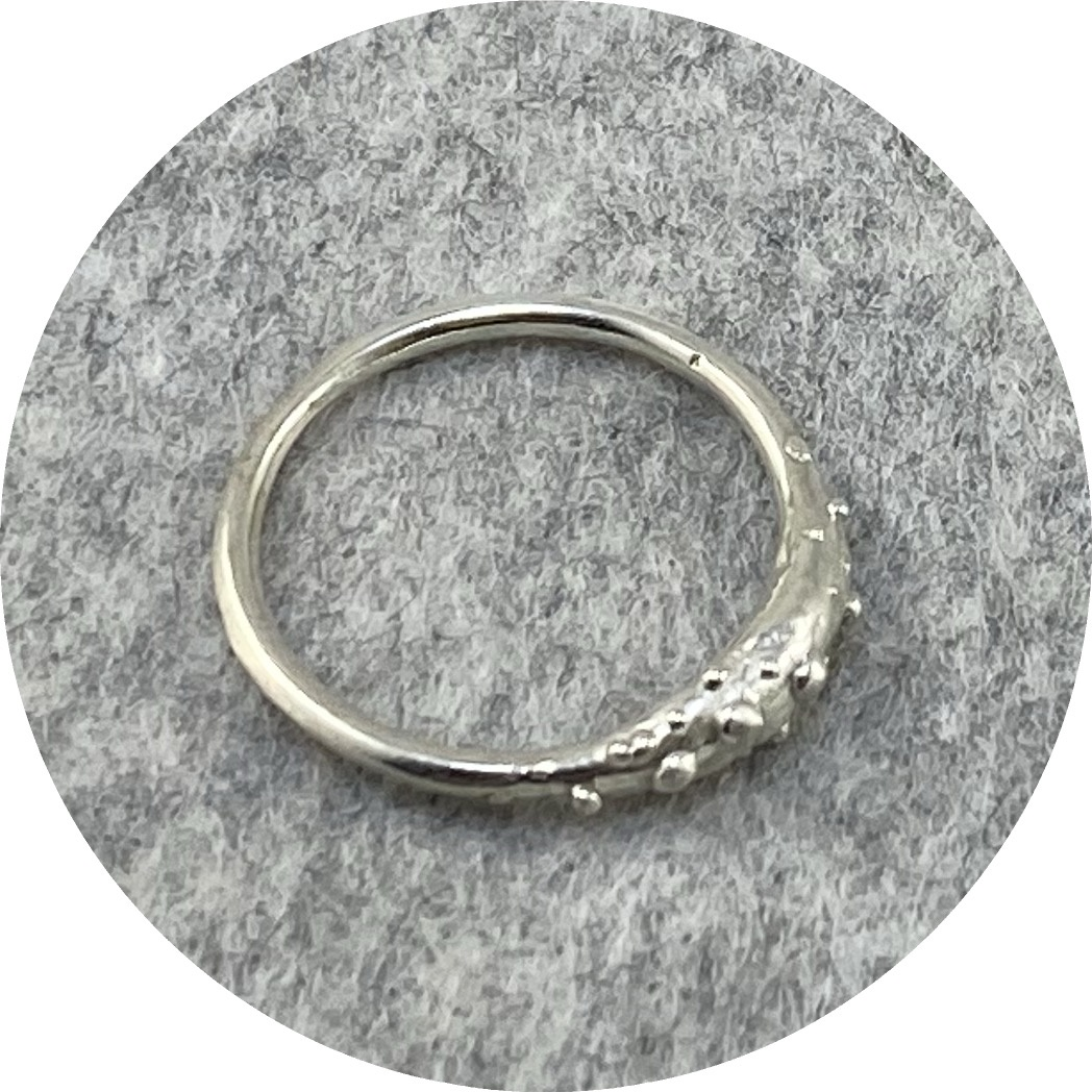 Katie Shanahan- Swell Speckled Ring in Sterling Silver