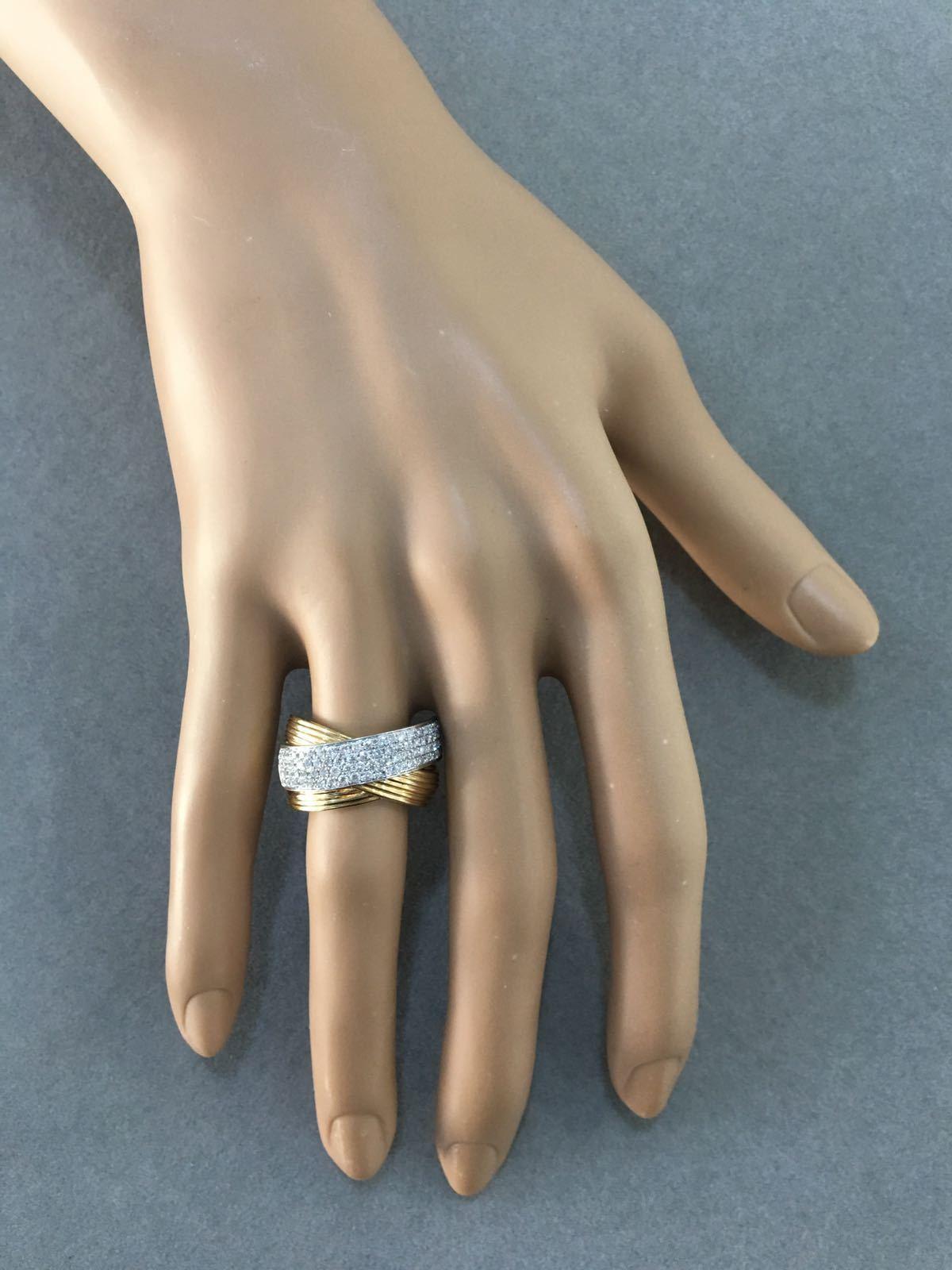 Multi Rows Rolling Diamond Ring