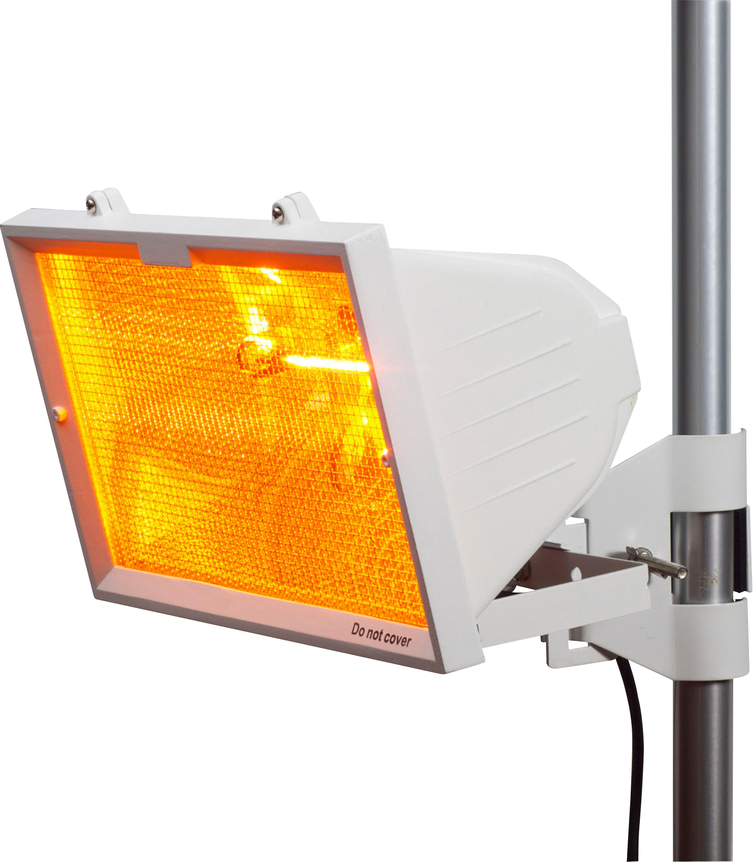 IP24 1300W Outdoor Infrared Heater with Mesh Grill and RS7 1300W Tube White