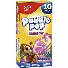 Paddle Pop Rainbow Ice Creams 10pk
