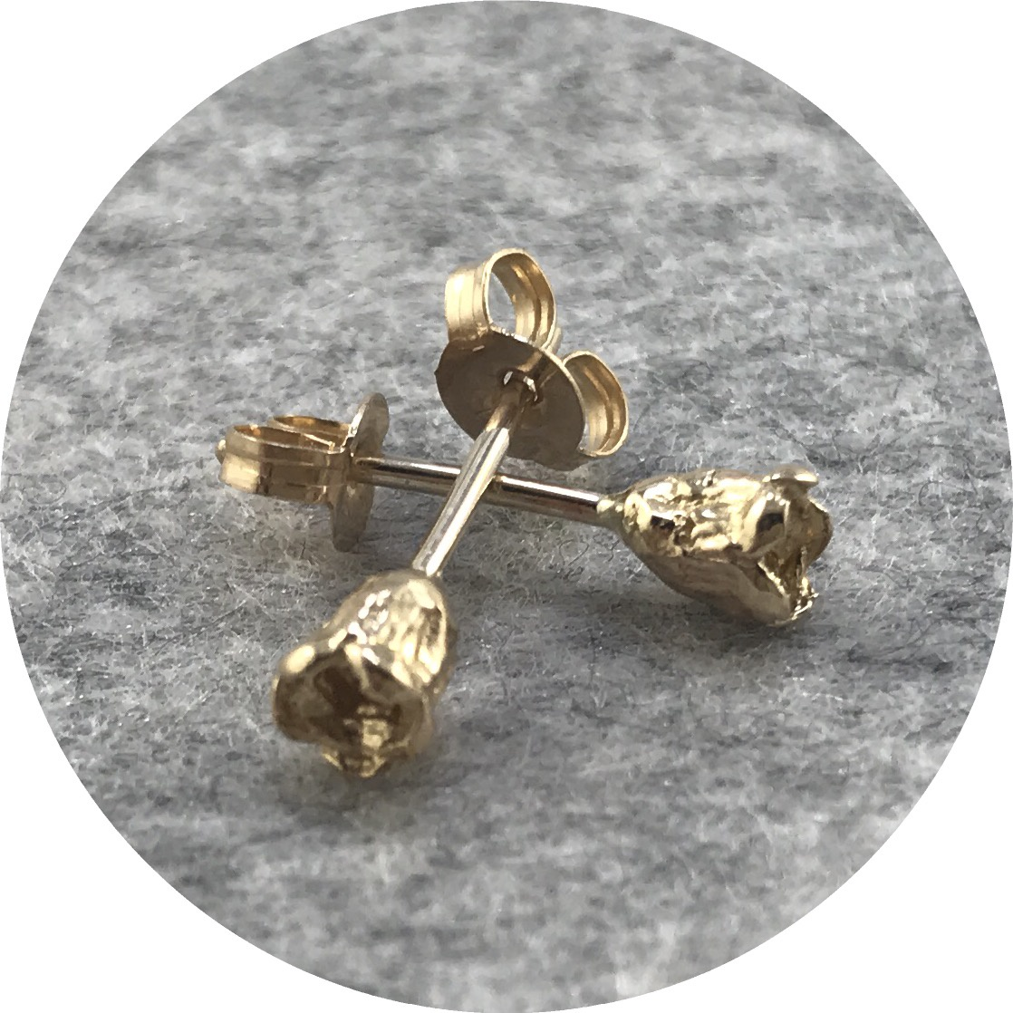Abby Seymour  - Melaleuca Pod Studs in 9ct Yellow Gold