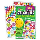 T 5005 SPARKLY STARS HEARTS SMILES STICKER PAD