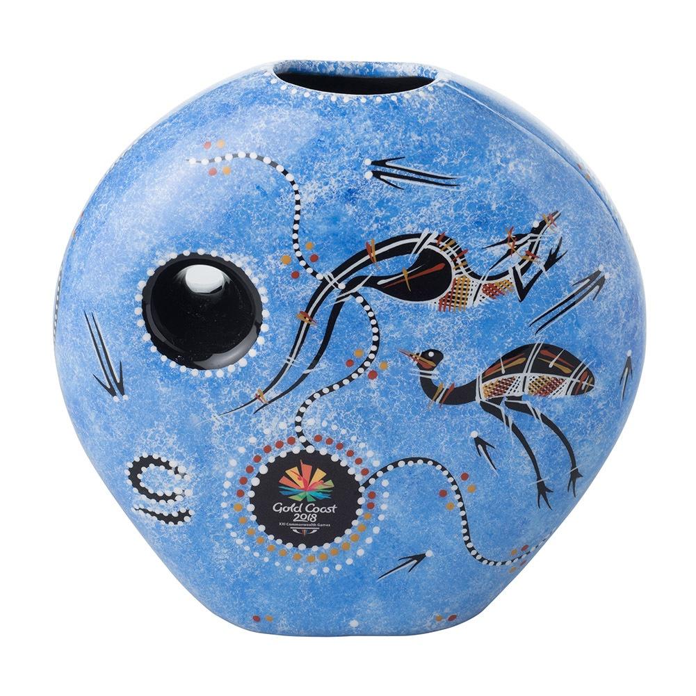 Mini Moon Vase Blue