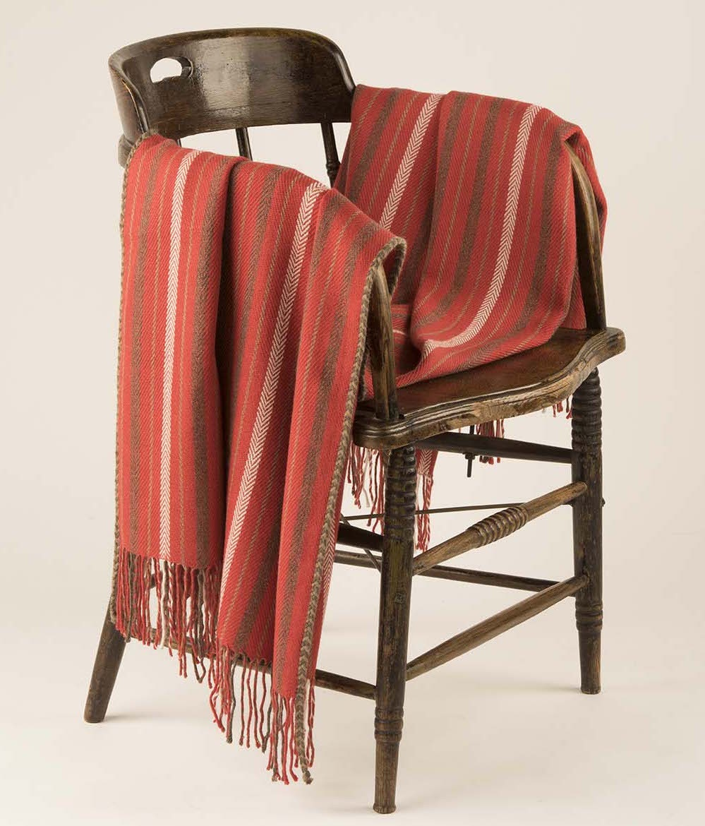 STRIPED HERRINGBONE THROW C001
