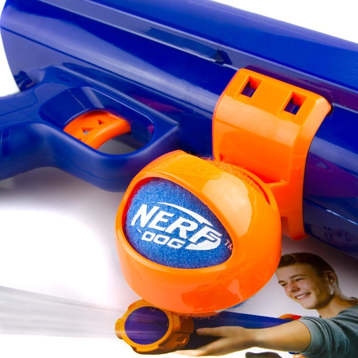 It's a little hard to track down the relevant information, but it seems  like the Nerf Dog Tennis Ball Blaster was released in 2015 as part of the Nerf  Dog ...