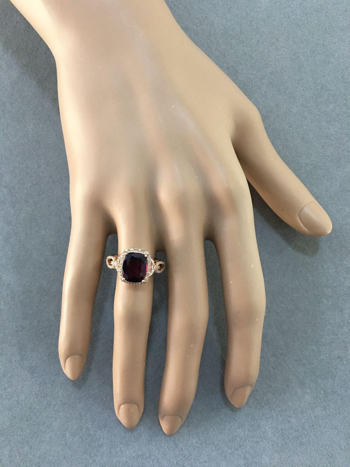 Rhodolite & Diamond Ring