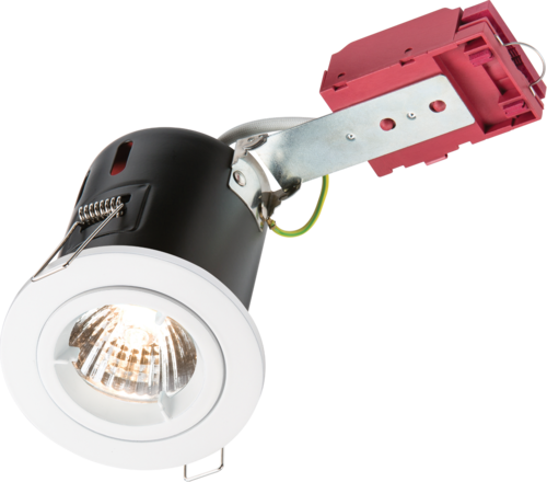 230V 50W Fixed GU10 IC Fire-Rated Downlight in White