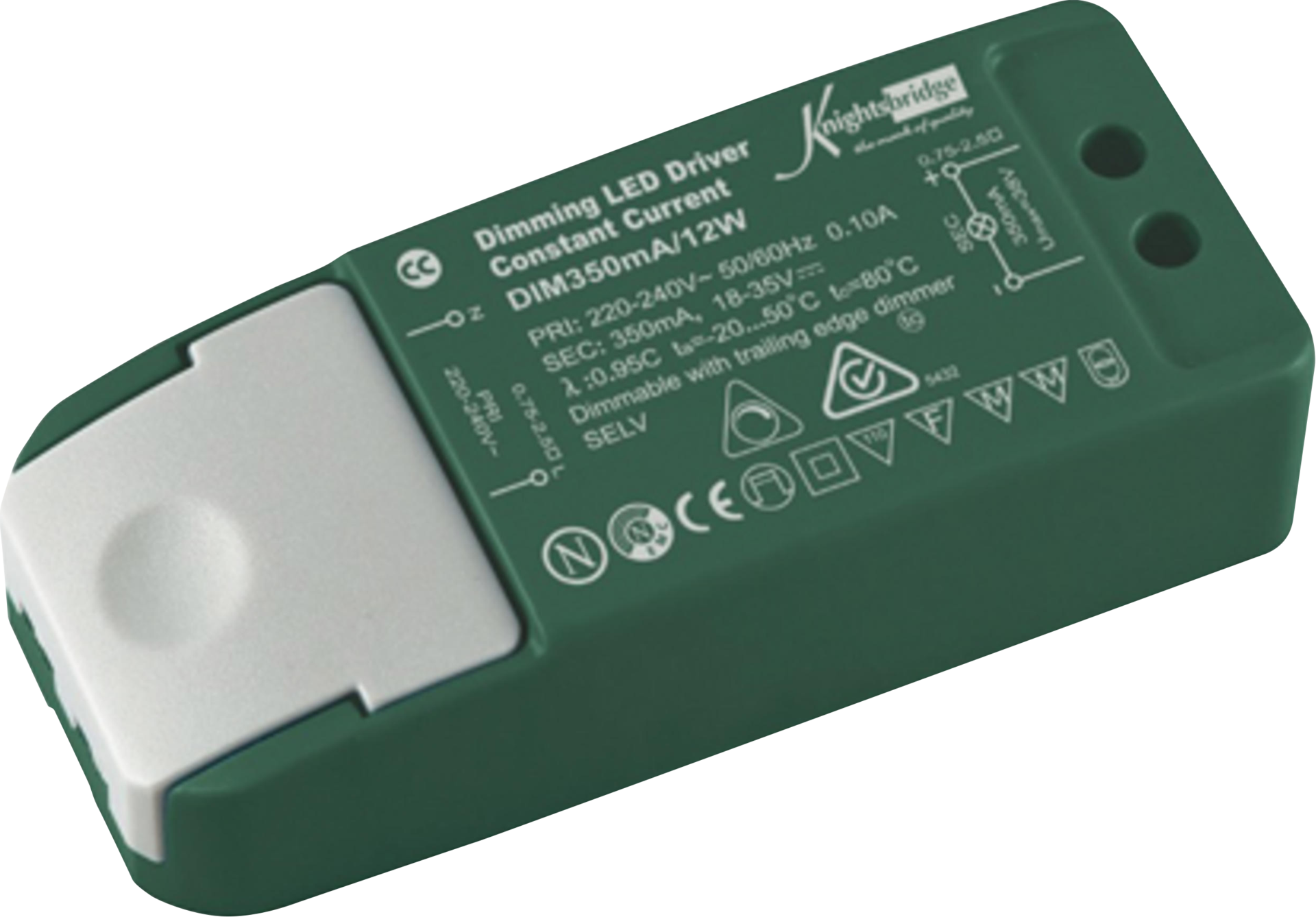 LED DRIVER 350 mA 12w CONSTANT CURRENT DIMMABLE