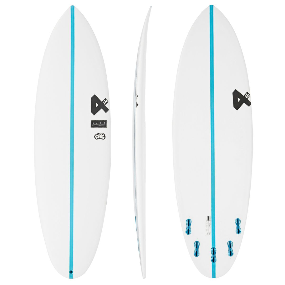 Fourth Chilli Bean Base Construction FCSII 5 Fin Surfboard 6'6