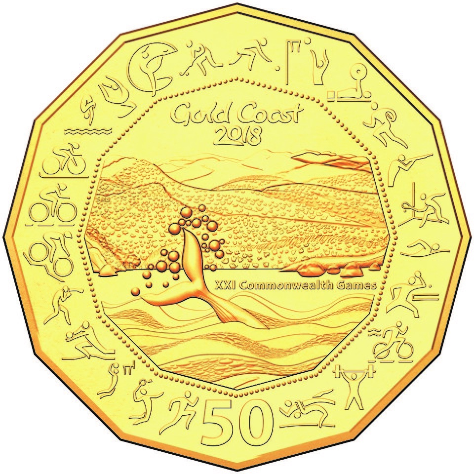 50c Gold Plated Uncirculated Coin
