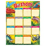 X T 38494 DISCOVERING DINOSAURS HAPPY BIRTHDAY CHART
