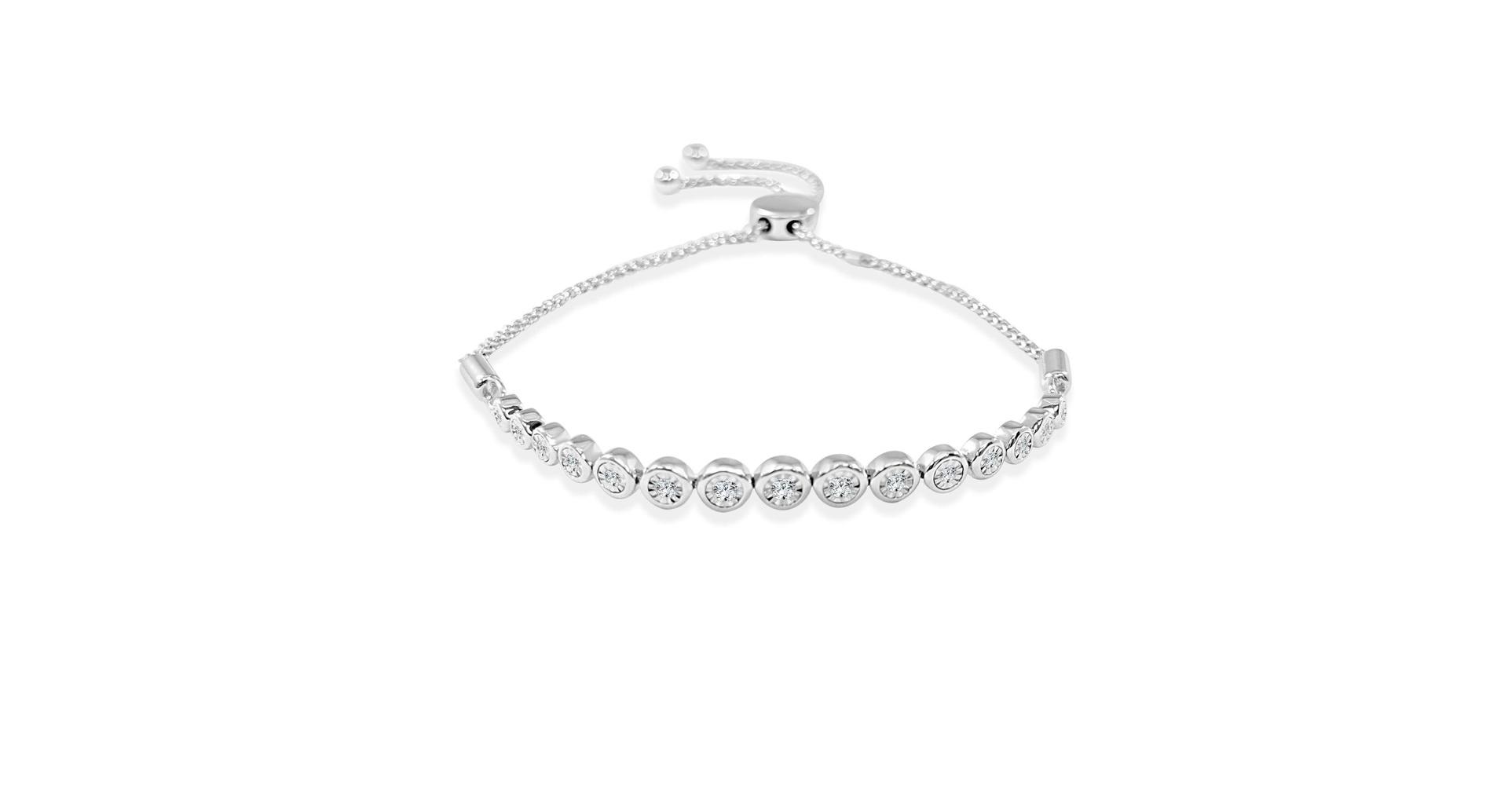 Diamond Bolo Bracelet