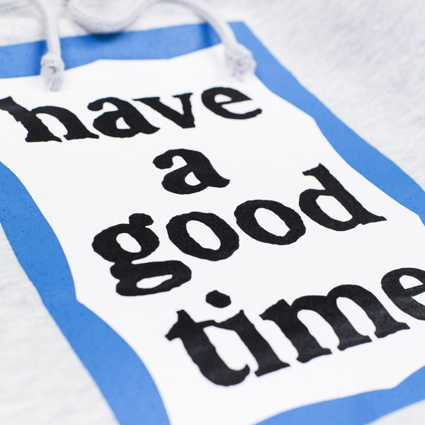Have A Good Time Blue Frame Pullover Grey