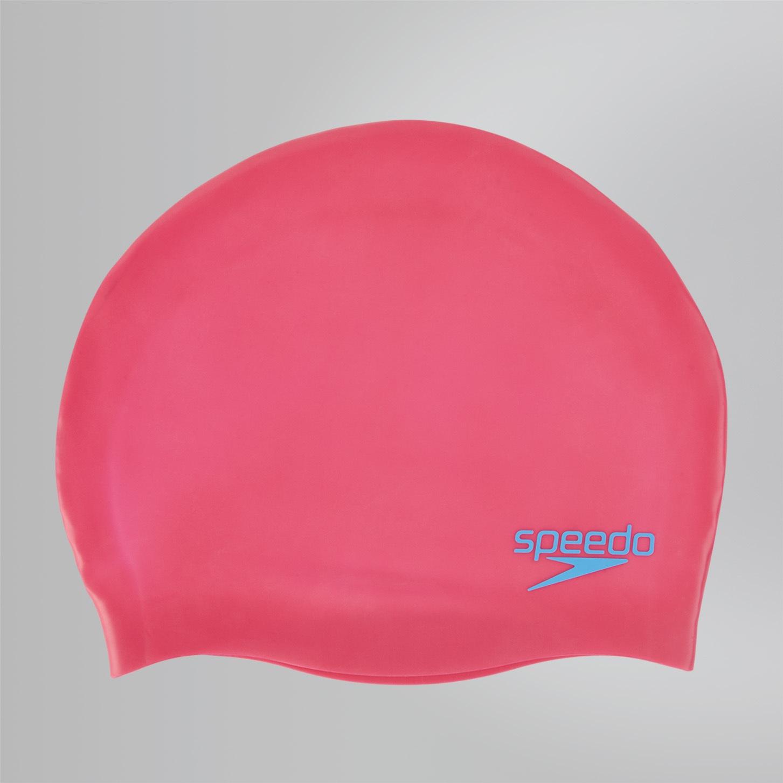 Junior Plain Moulded Silicone Cap Ecstatic Pink/Japan Blue