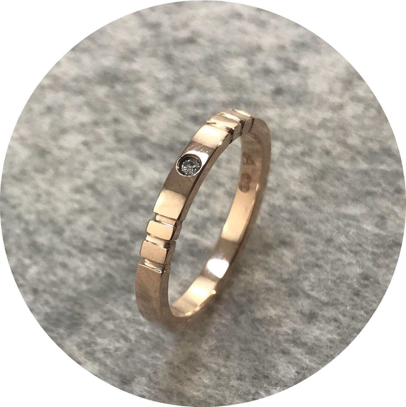 Aimee Sutanto - Cupid Ring in 9ct Rose Gold with 2pt White Diamonds