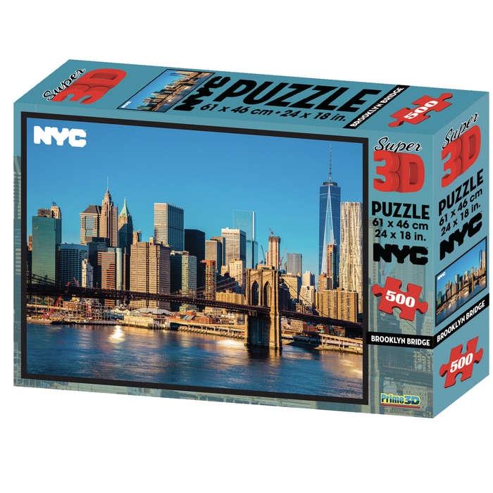 3D PUZZLE BROOKLYN BRIDGE 500 PCS