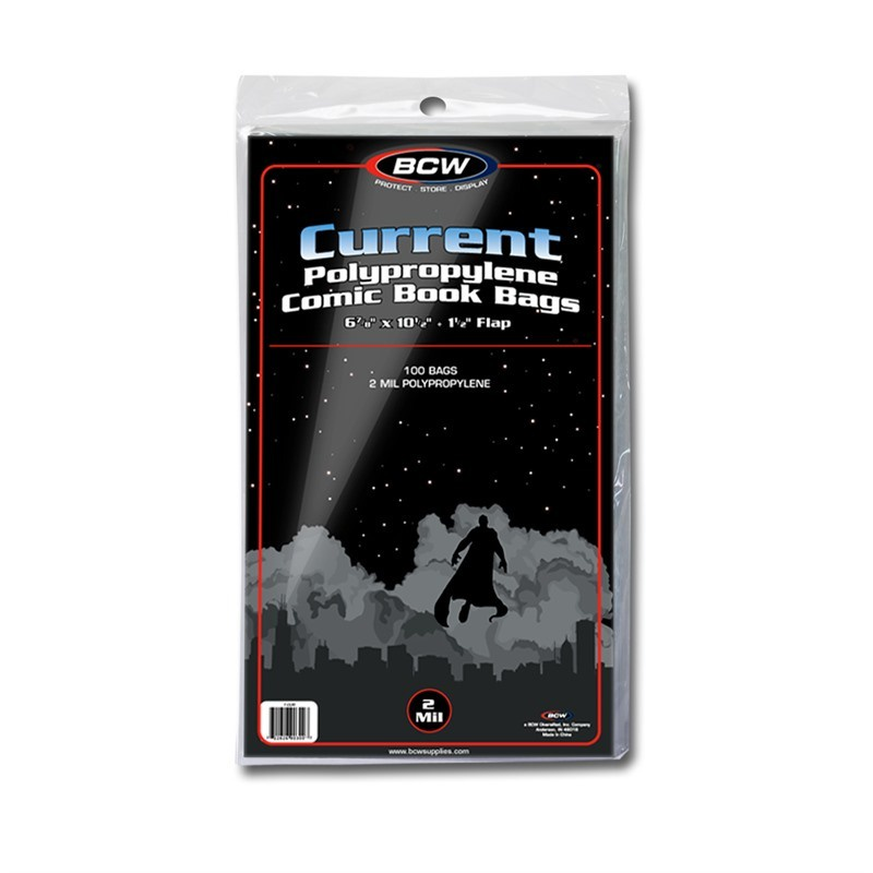 BCW Current Comic Bags 100 Pack