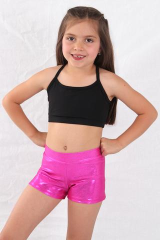 Basic Moves Child Gymnastic Metallic Shorts (GY7559)