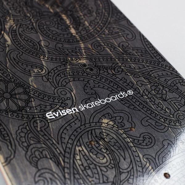 "Evisen Paisley Deck Black / Gold 8"""