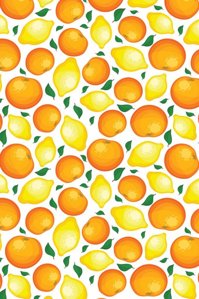 Tea Towel - Oranges & Lemons