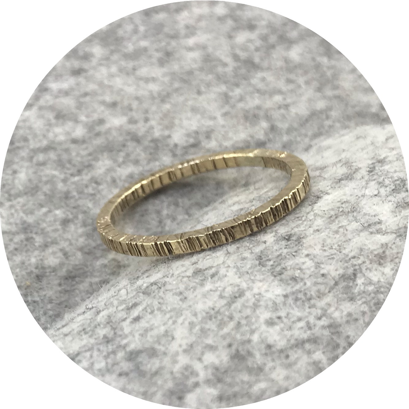 Emily Becher - 'Tactility Gold Stack Ring' 9ct yellow gold wire P