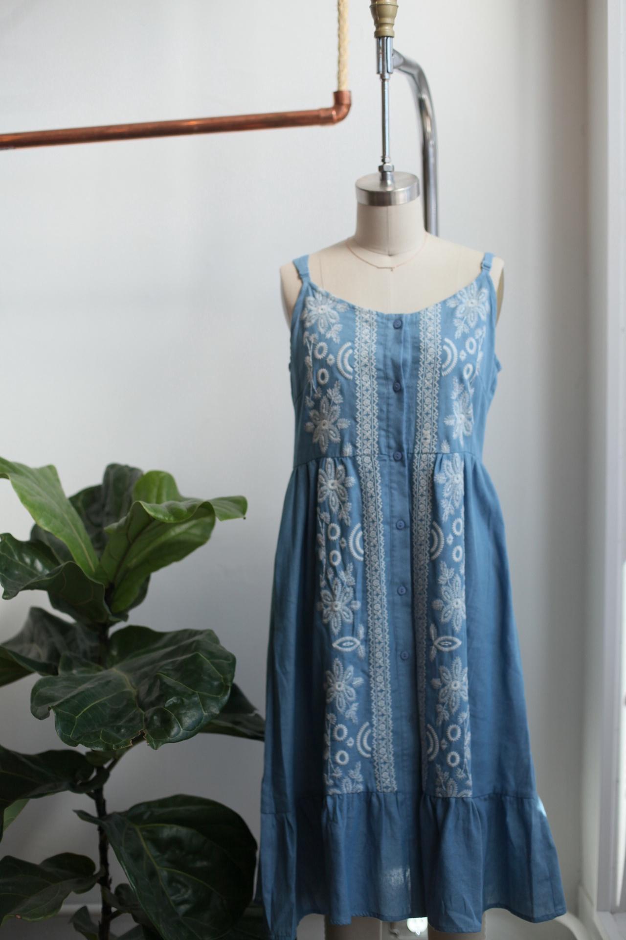 Blooming Blue Dress