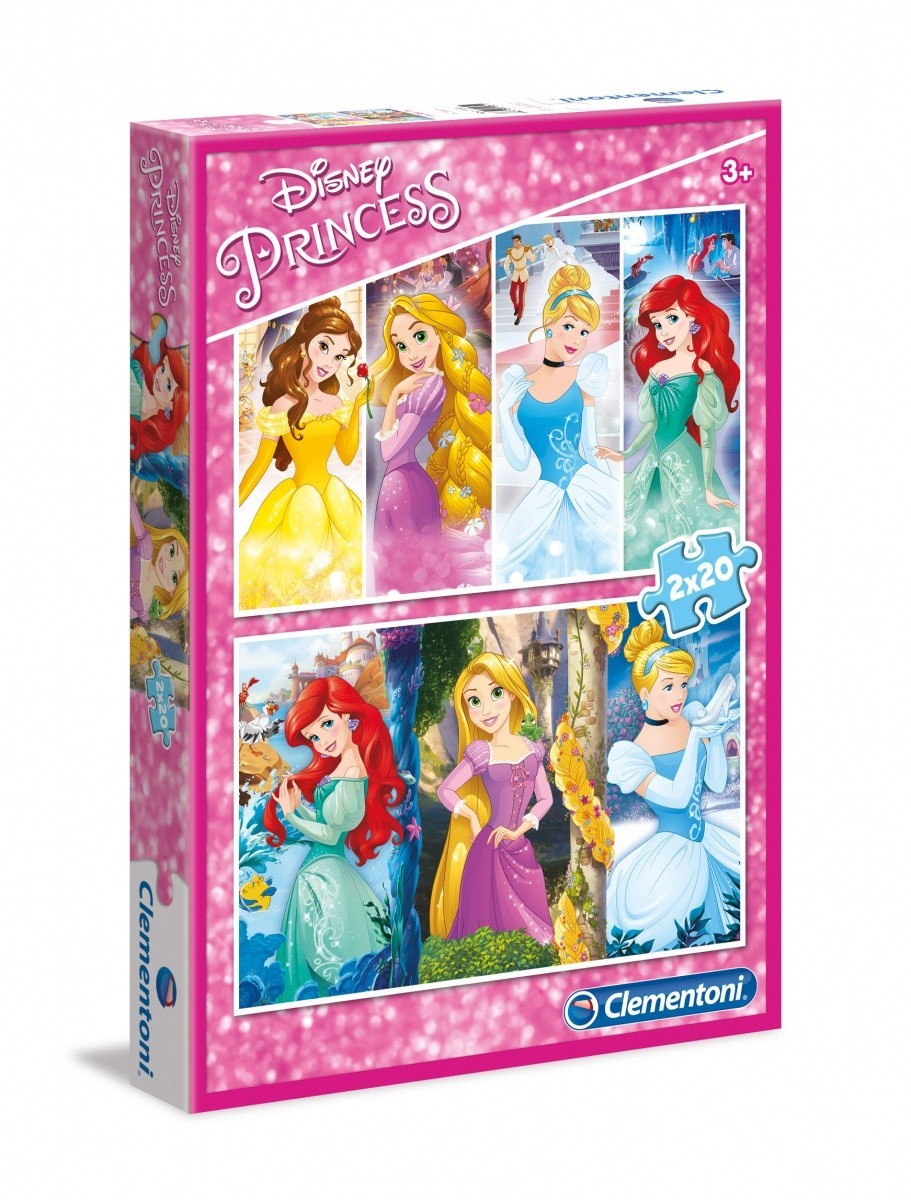 DISNEY PRINCESS PUZZLE 2 X 20