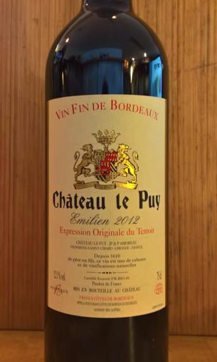 2014 Château le Puy 'Emilien' Bordeaux