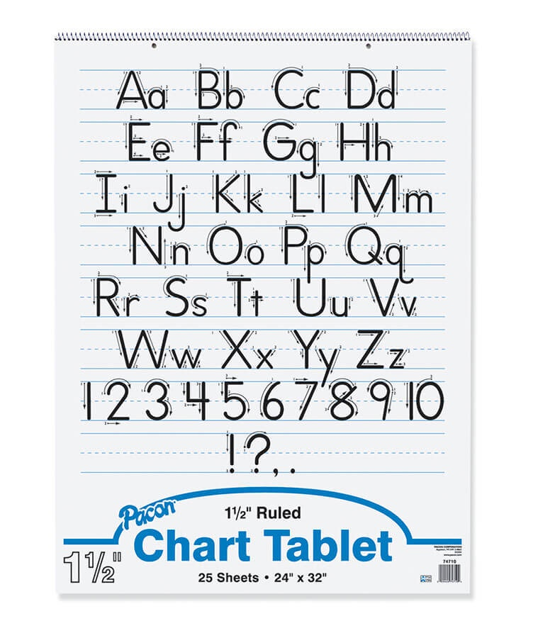 PA 74710 CHART TABLET 1 1/2