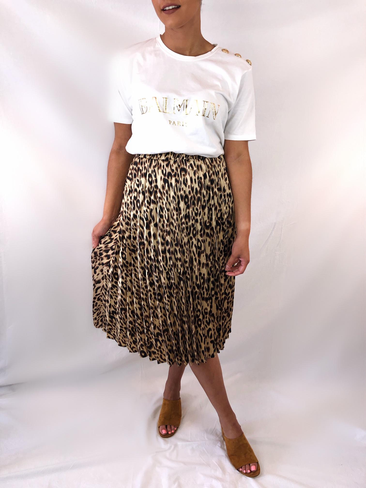 Luxe Leo Midi Skirt