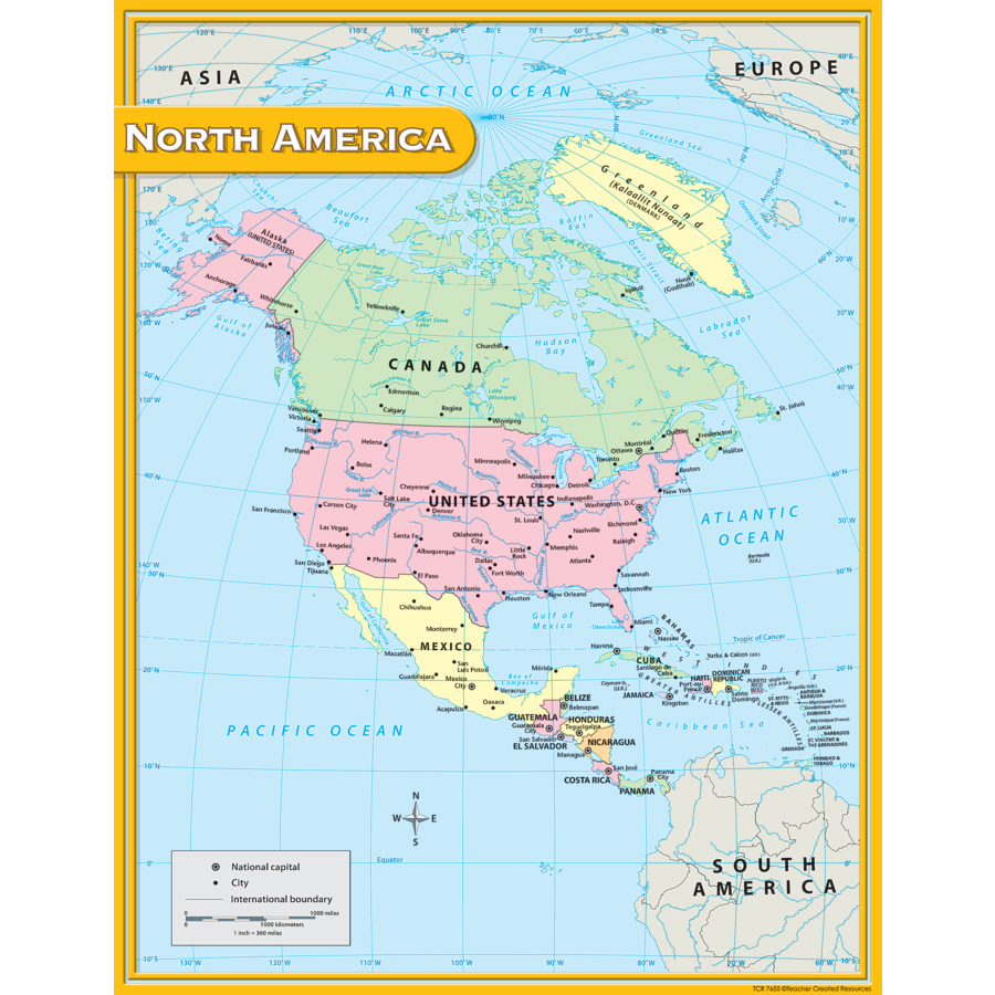 X TCR 7655 NORTH AMERICA MAP CHART