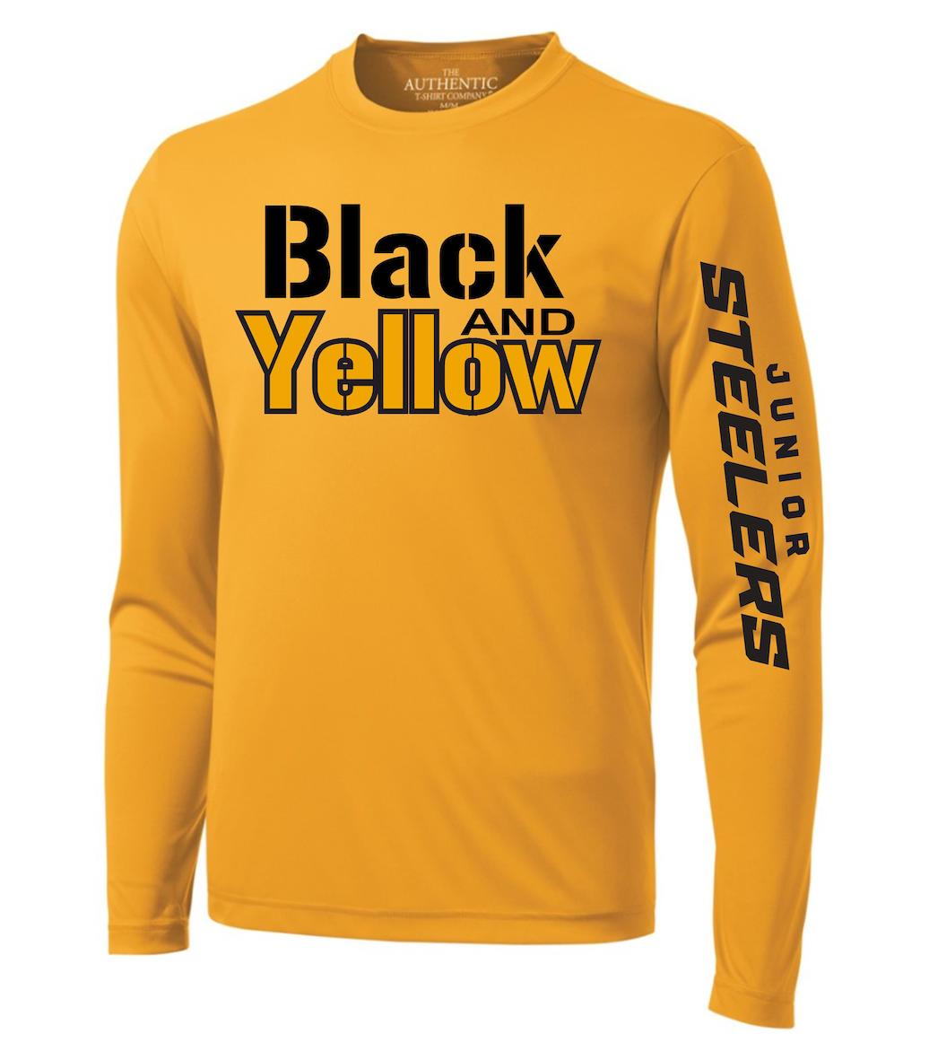 98d36d35f Junior Steelers Black   Yellow Training Shirt - Scoff s Hockey Shop
