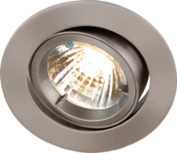 TILT BRUSHED CHROME TWIST-LOCK DOWNLIGHT GU10/MR16