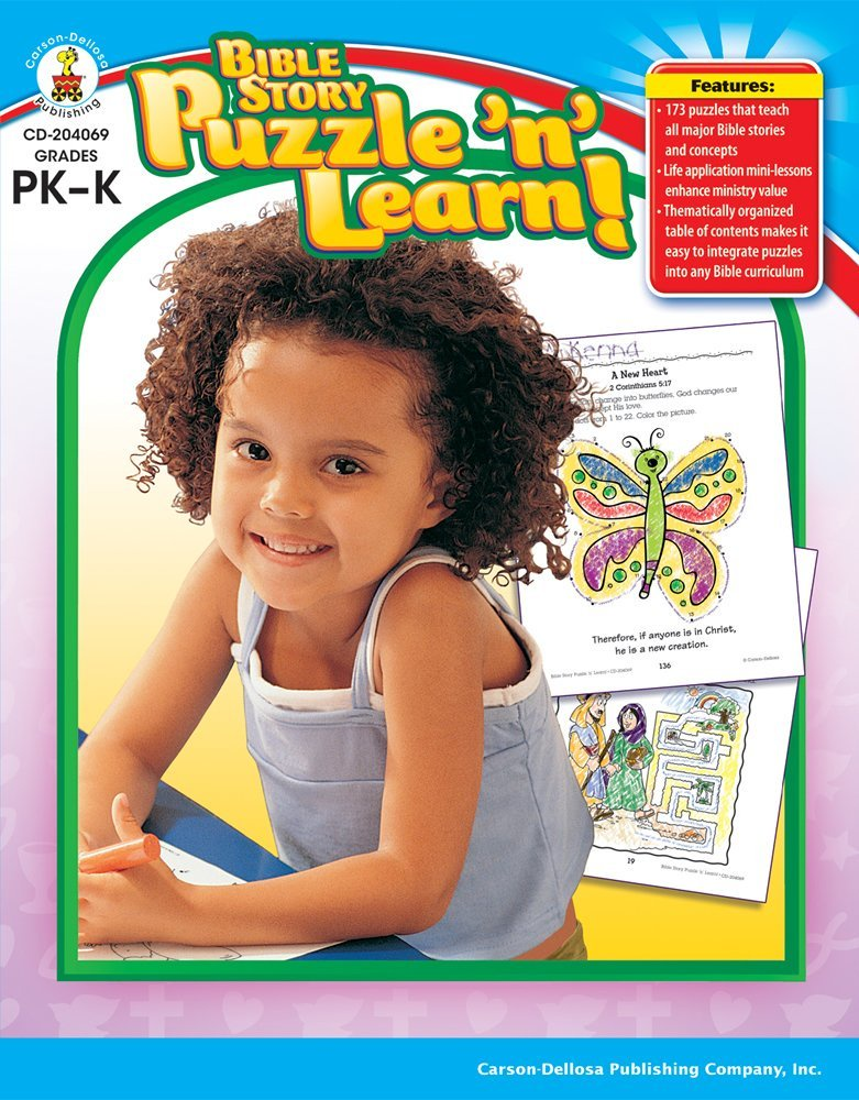 CD 204069 BIBLE STORY PUZZLE AND LEARN PREK-K