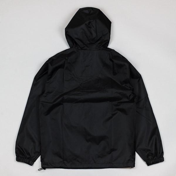 Magenta Retractable Pullover Jacket Black