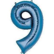 NUMBER 9 BLUE 34''