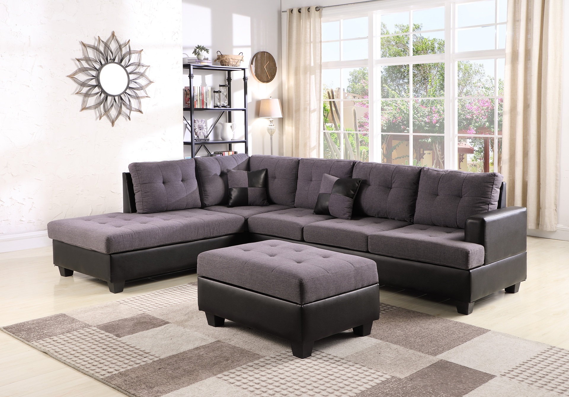 Ashton 5 Seater Corner Sofa Fabric