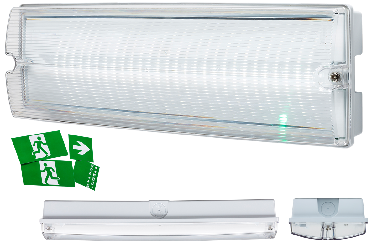 230V IP65 4W LED Emergency Bulkhead (maintained/non-maintained)