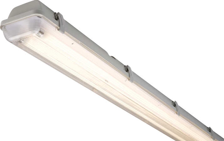 230V IP65 2X14W T5 HF Twin Non-Corrosive Fluorescent Fitting 2ft