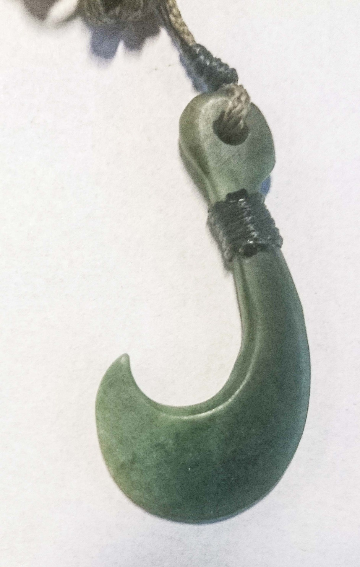 Pounamu Hook Pendant 50mm