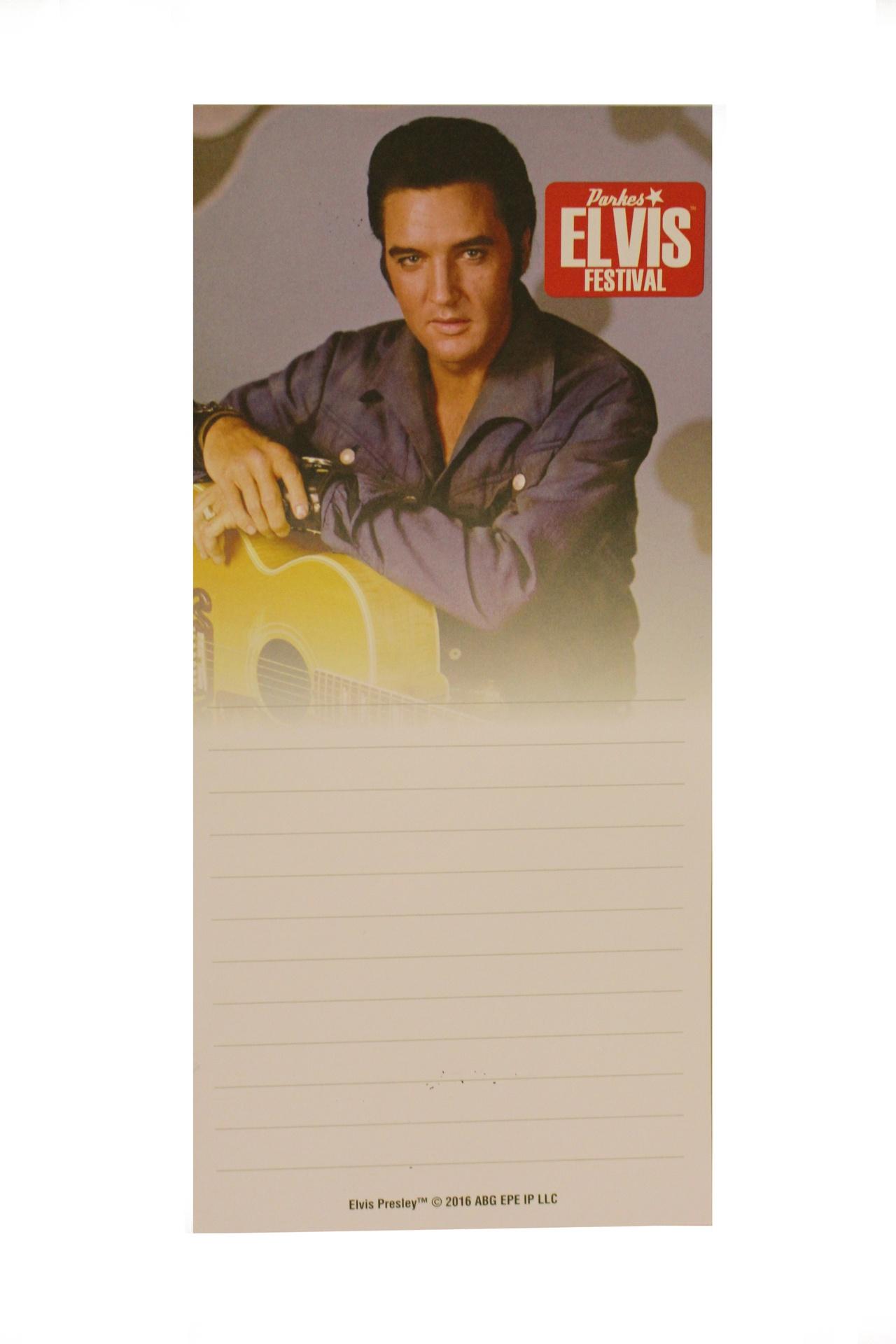 DL Note Pad Elvis Image