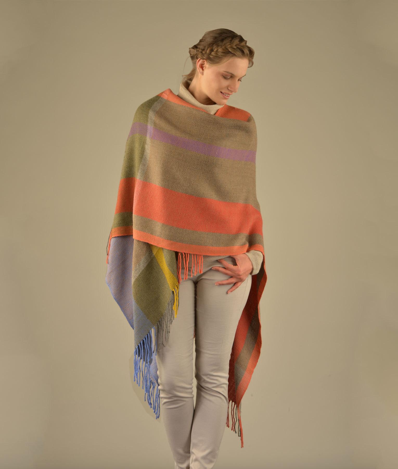 CAPE MULTI STRIPES C002