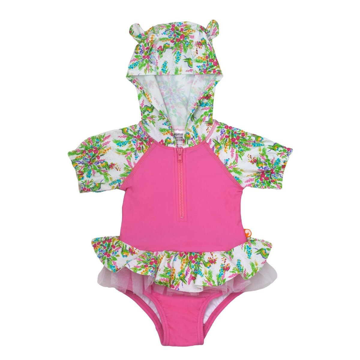 Escargot Springtime Baby Hooded One Piece