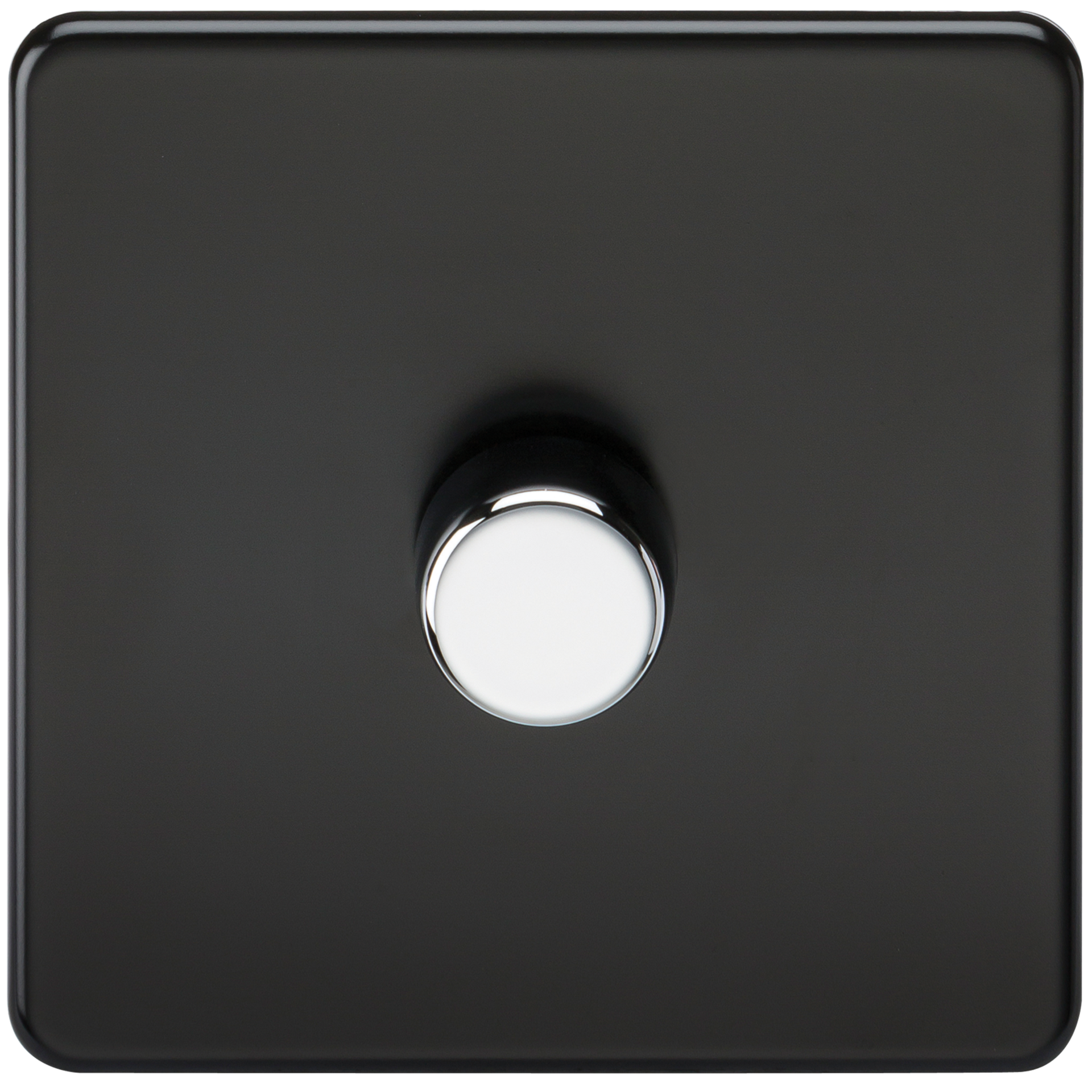 SCREWLESS 1G 2 WAY 40-400W DIMMER SWITCH - MATT BLACK