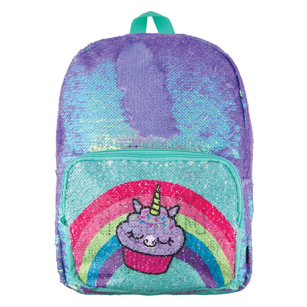 BACKPACK PERIWINKLE POCKET SEQUIN