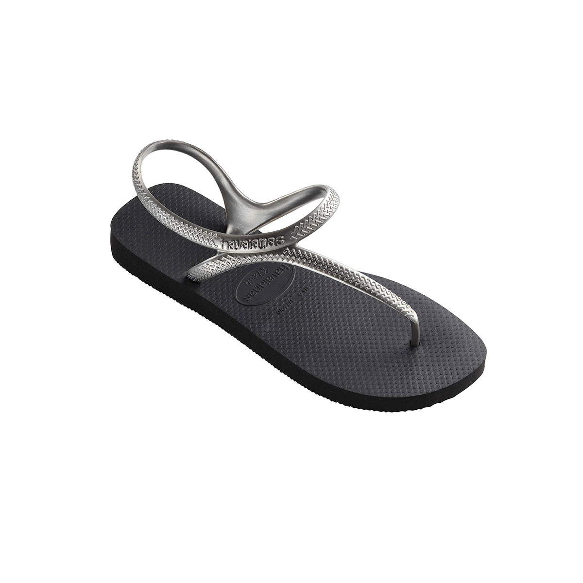 ecc956dcc5d5a Havaianas Flash Urban - Black Silver - Out There Surf